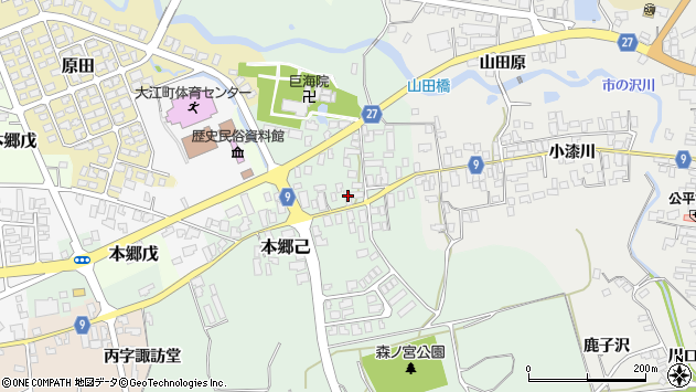 山形県西村山郡大江町本郷己30周辺の地図