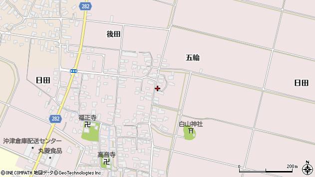 山形県寒河江市日田五輪181周辺の地図