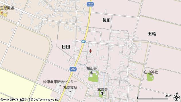 山形県寒河江市日田後田161周辺の地図