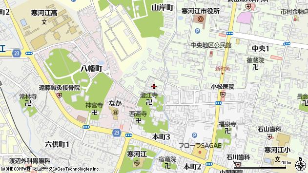 山形県寒河江市山岸町1周辺の地図