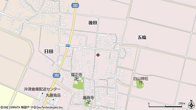 山形県寒河江市日田336周辺の地図