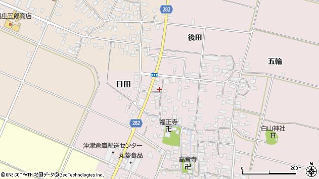 山形県寒河江市日田後田124周辺の地図