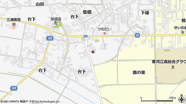 山形県寒河江市柴橋3370周辺の地図