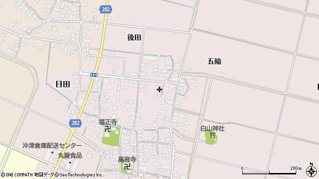 山形県寒河江市日田338周辺の地図