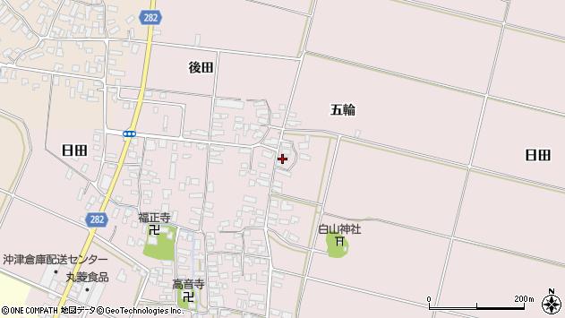山形県寒河江市日田五輪182周辺の地図
