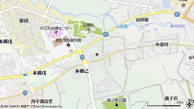 山形県西村山郡大江町本郷己29周辺の地図