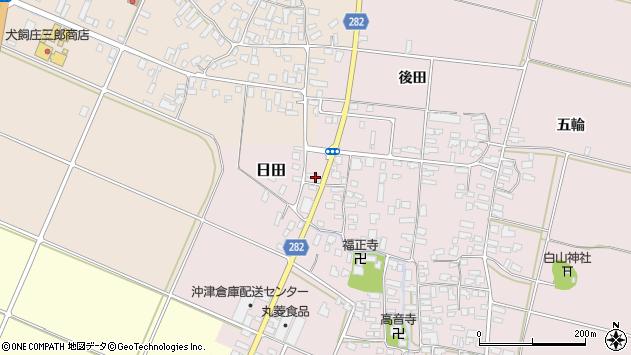 山形県寒河江市日田後田118周辺の地図