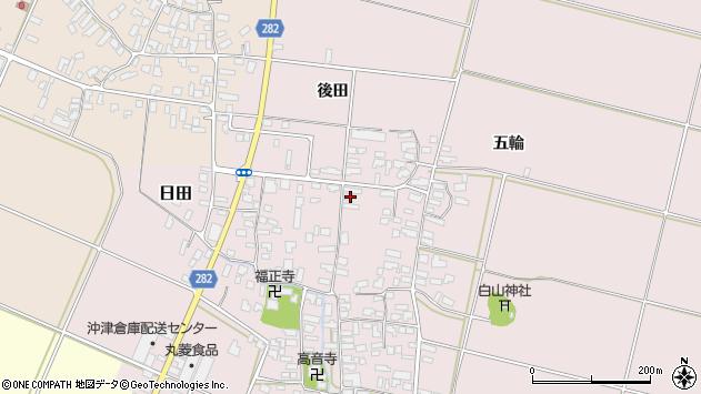 山形県寒河江市日田335周辺の地図