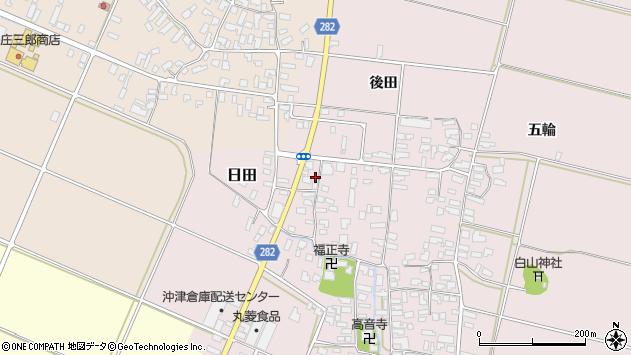 山形県寒河江市日田周辺の地図