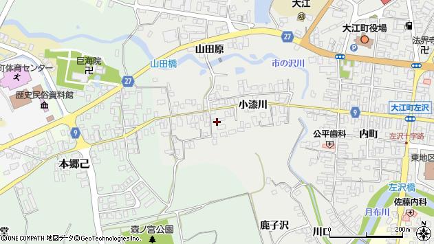 山形県西村山郡大江町左沢696周辺の地図