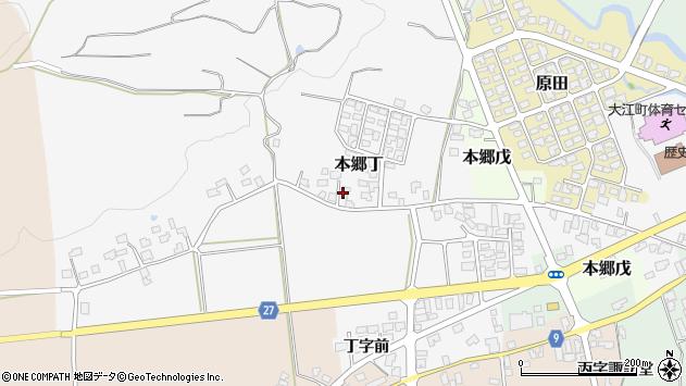 山形県西村山郡大江町本郷丁200周辺の地図