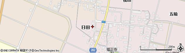 山形県寒河江市日田後田113周辺の地図