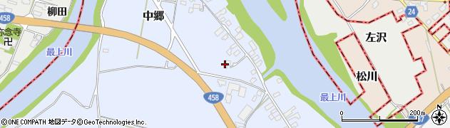 山形県寒河江市中郷1620周辺の地図