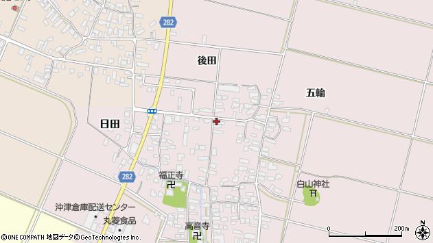 山形県寒河江市日田334周辺の地図