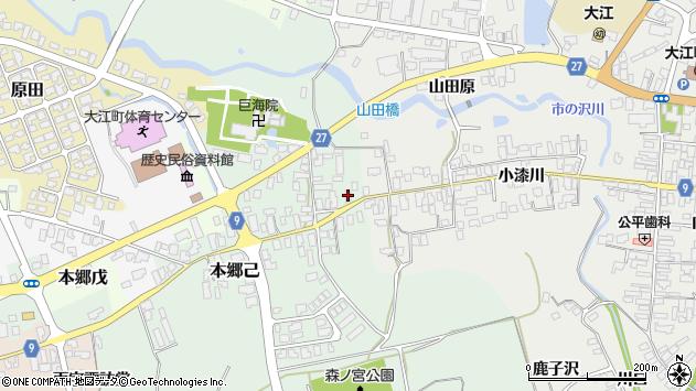 山形県西村山郡大江町本郷己15周辺の地図