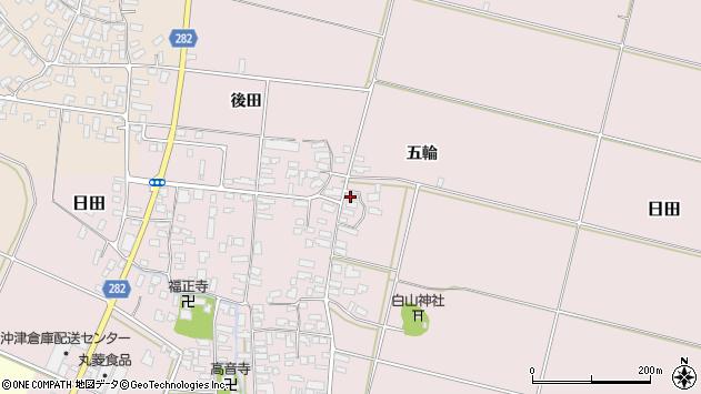 山形県寒河江市日田五輪185周辺の地図
