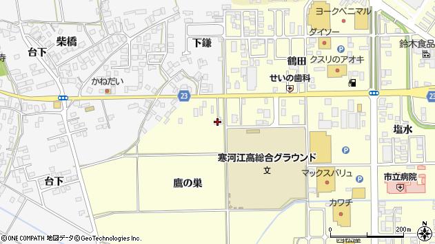 山形県寒河江市寒河江鷹の巣5周辺の地図
