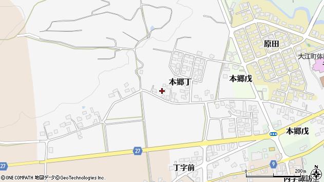 山形県西村山郡大江町本郷丁202周辺の地図