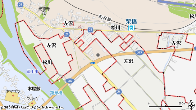 山形県寒河江市松川141周辺の地図