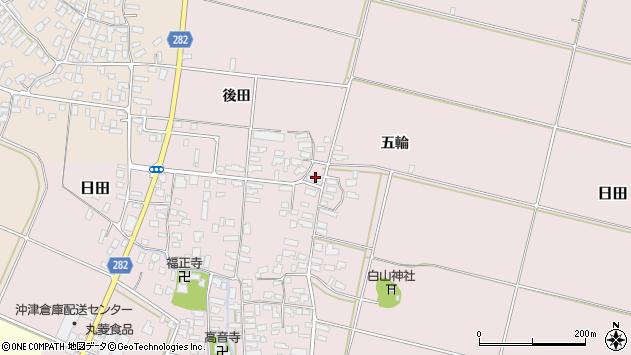 山形県寒河江市日田321周辺の地図