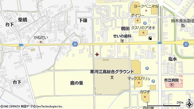 山形県寒河江市寒河江鷹の巣7周辺の地図