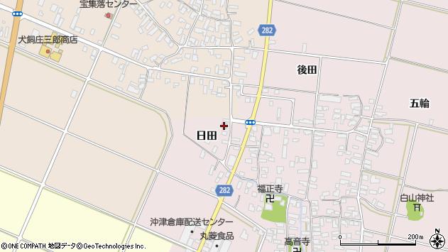 山形県寒河江市日田後田111周辺の地図