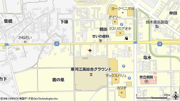 山形県寒河江市寒河江鷹の巣11周辺の地図