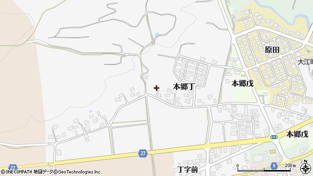 山形県西村山郡大江町本郷丁204周辺の地図