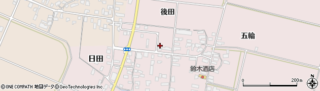 山形県寒河江市日田後田95周辺の地図