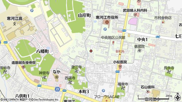 山形県寒河江市山岸町4周辺の地図