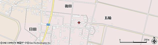 山形県寒河江市日田後田233周辺の地図