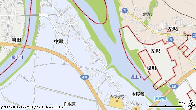 山形県寒河江市中郷1960周辺の地図