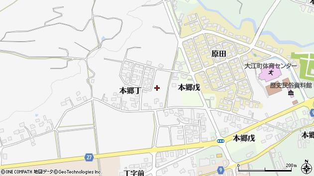 山形県西村山郡大江町本郷丁下北山周辺の地図
