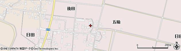 山形県寒河江市日田後田222周辺の地図