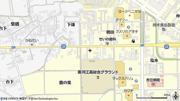 山形県寒河江市寒河江鷹の巣9周辺の地図