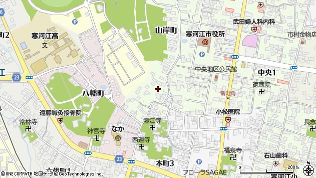 山形県寒河江市山岸町周辺の地図