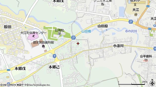 山形県西村山郡大江町本郷己11周辺の地図