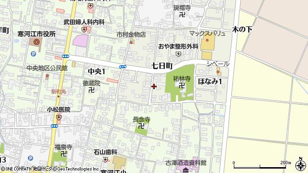 山形県寒河江市七日町4周辺の地図