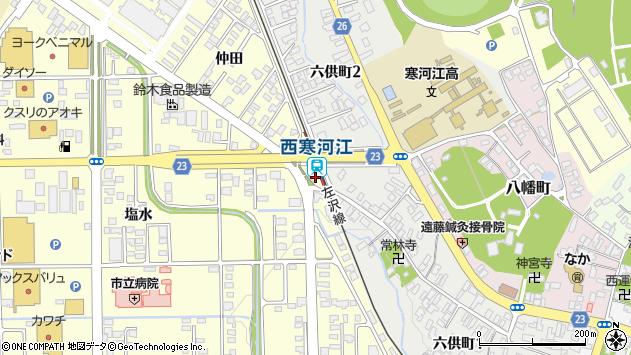 山形県寒河江市寒河江仲田1893周辺の地図