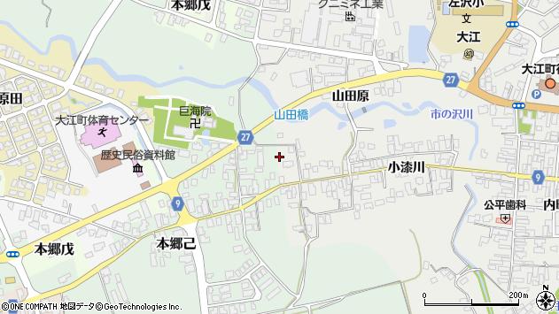 山形県西村山郡大江町左沢2615周辺の地図