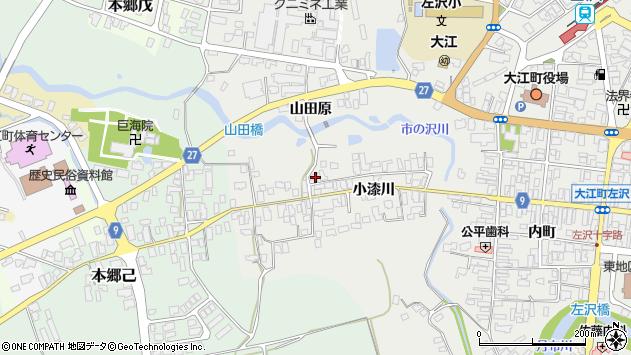 山形県西村山郡大江町左沢703周辺の地図