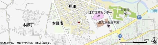 山形県西村山郡大江町原田12周辺の地図