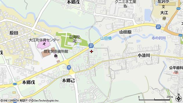 山形県西村山郡大江町本郷己12周辺の地図