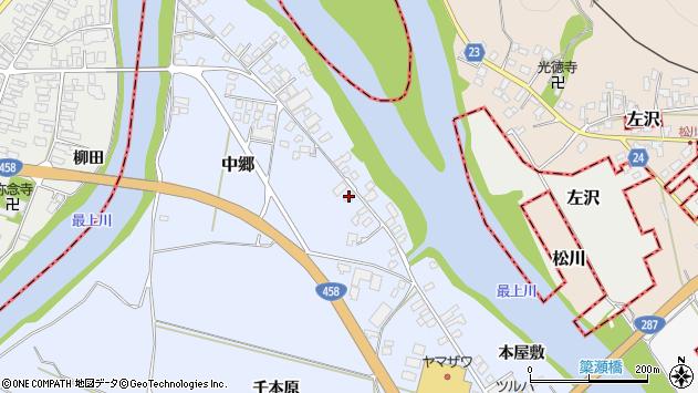 山形県寒河江市中郷1626周辺の地図