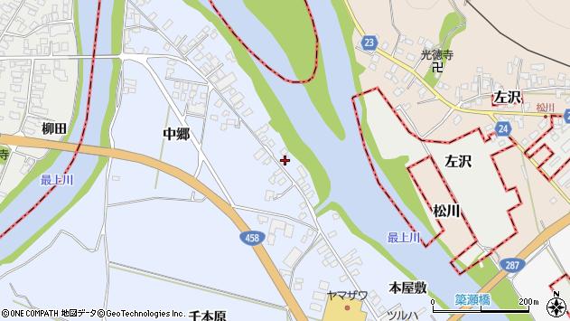 山形県寒河江市中郷1959周辺の地図