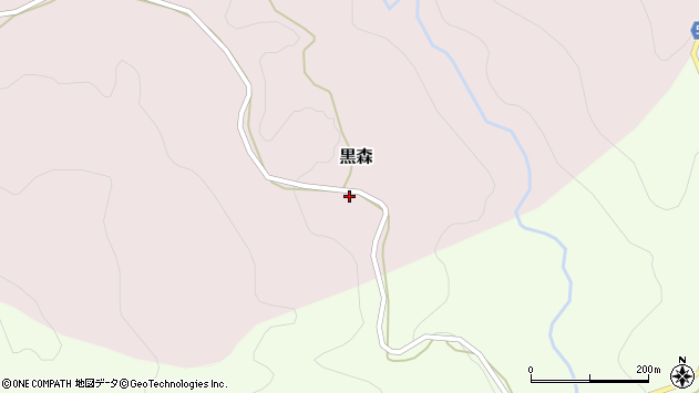 山形県西村山郡大江町黒森45周辺の地図