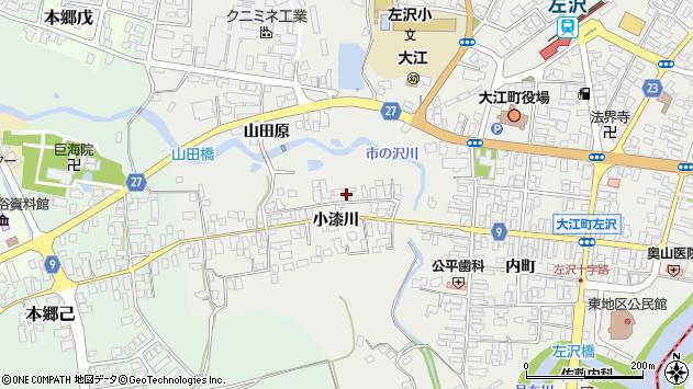 山形県西村山郡大江町左沢713周辺の地図