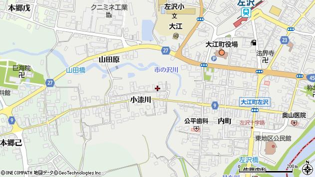 山形県西村山郡大江町左沢715周辺の地図