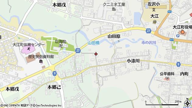 山形県西村山郡大江町左沢685周辺の地図