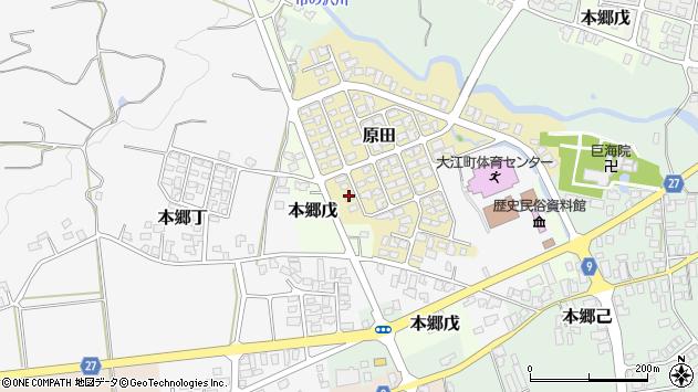 山形県西村山郡大江町原田8周辺の地図
